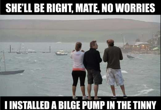 Buying A Secondhand Boat Trailer? Learn From My 10 Mistakes! Bilge Pump In Tinny 522X358 1