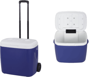Fishing-Trolley-Cooler-With-Handle-Wheels-Lid-300X259-1