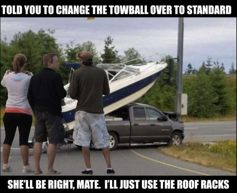 Buying A Secondhand Boat Trailer? Learn From My 10 Mistakes! Secondhand Boat Trailer Towball Fail 768X625 1